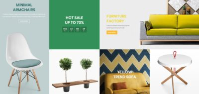 Furniture banners grid