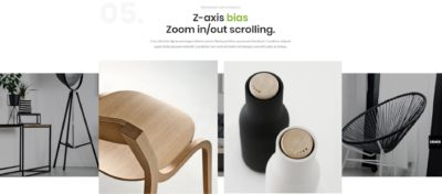 Showcase + z-axis parallax